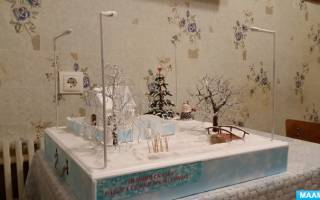 Новогоднее панно «Зимняя сказка». Мастер-класс пошагово