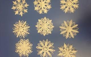 Волшебные снежинки из бумаги своими руками.