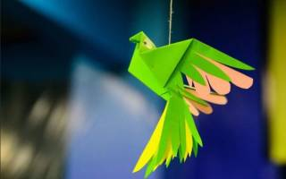 Птица из бумаги. Схема оригами