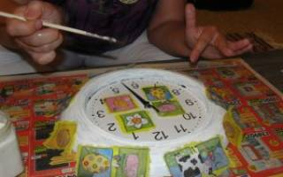 Декупаж часов для ребенка. Мастер Класс