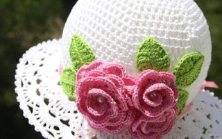 Красивая ажурная летняя шапка крючком:
