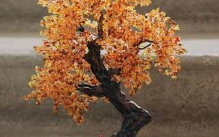 Дерево из бисера. Золотая осень.