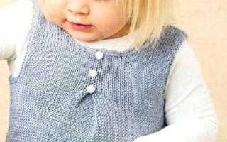 Сарафан с вязаным лифом «Ягодка» для девочки 9 месяцев. Мастер класс с пошаговым фото