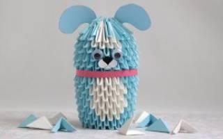 Модульное оригами. Собака.
