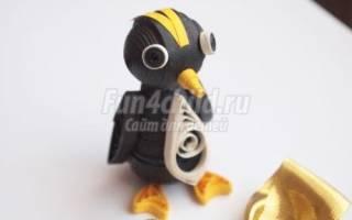 Объемный квиллинг. Пингвин.