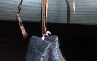 Валяние из шерсти. Сувенир-оберег «Валенки-шептуны». Мастер класс с пошаговым фото