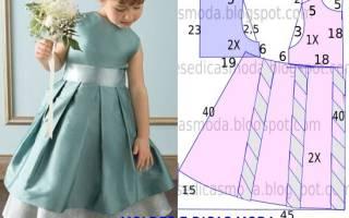 Платье для девочки 4 лет с выкройкой. . Часть 1