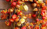 Осенний венок из листьев. Мастер класс с пошаговым фото