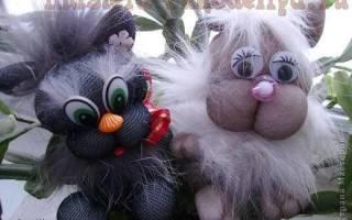Игрушки из капроновых колготок. Мартовский кот.