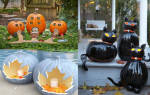 Поделки из тыквы на Хэллоуин. Подсвечник.